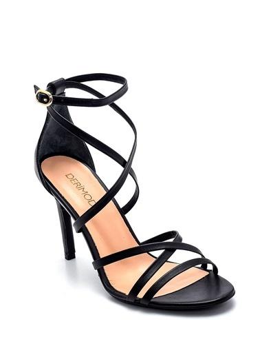 Derimod Kadın Sandalet (06233-12) Casual Siyah